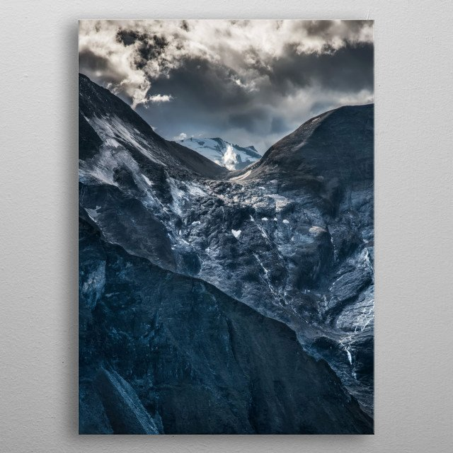 Pretty mountains in Austria. Alps, Grossglockenstrasse metal poster