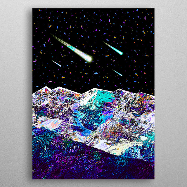 This artwork is one of the 3 part. Purchase all 3 to complete the set and make your room out of this world. Prefer Gloss. metal poster