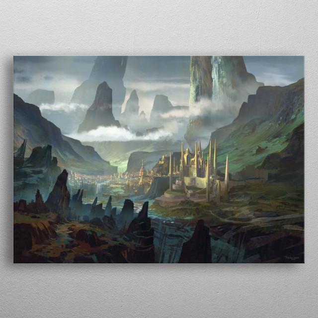 Fantasy environment concept metal poster