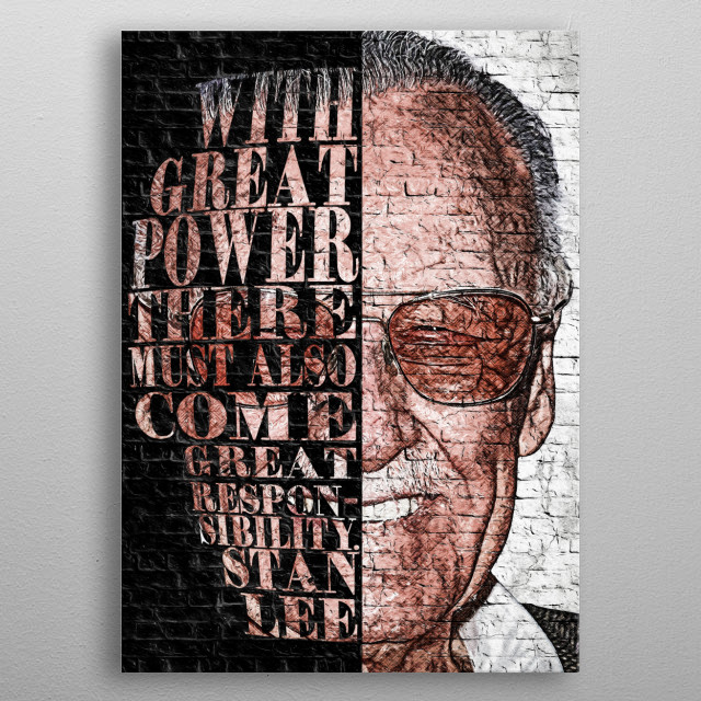 High-quality metal print from amazing Wallart Legends collection will bring unique style to your space and will show off your personality. metal poster