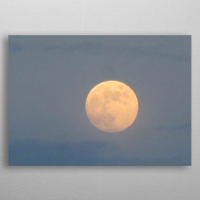 this moon is very beutifully in this image metal poster