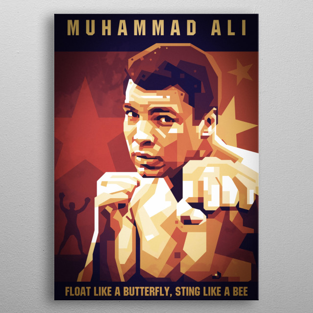 the greatest ALI illsutration metal poster