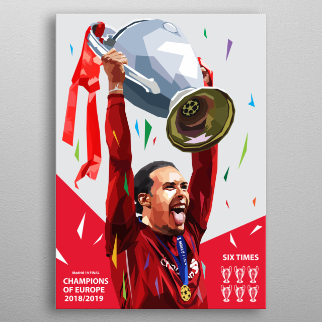 Virgil van Dijk is a Dutch professional footballer for English Premier League club Liverpool and captains the Netherlands metal poster