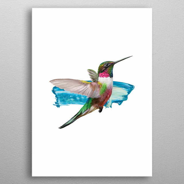 This Art Print features a mixed media illustration, perfect for your walls.  metal poster