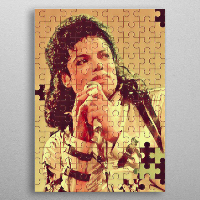 """an American singer, songwriter, and dancer. Dubbed the """"King of Pop"""", metal poster"""