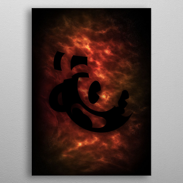 This is a custom cuphead nebula poster metal poster