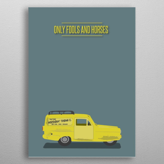 Illustration of 'Only Fools and Horses'  metal poster