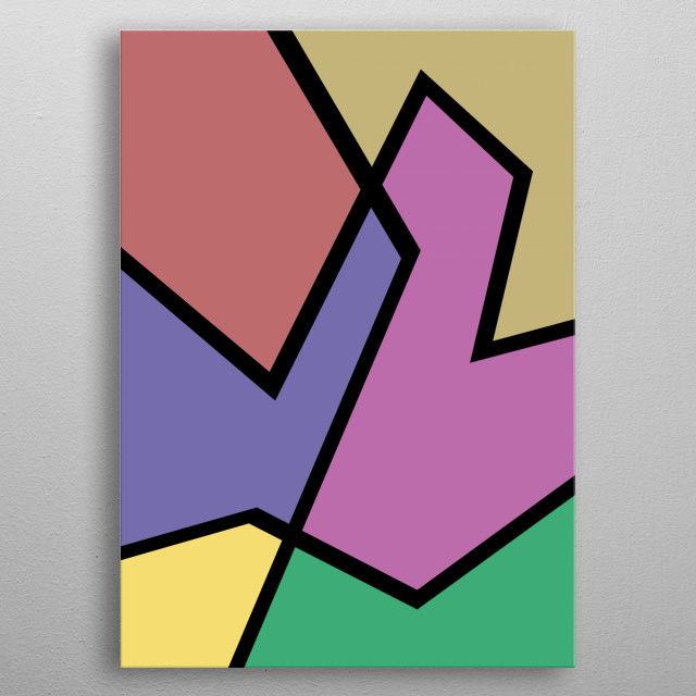 Abstract colorful art metal poster
