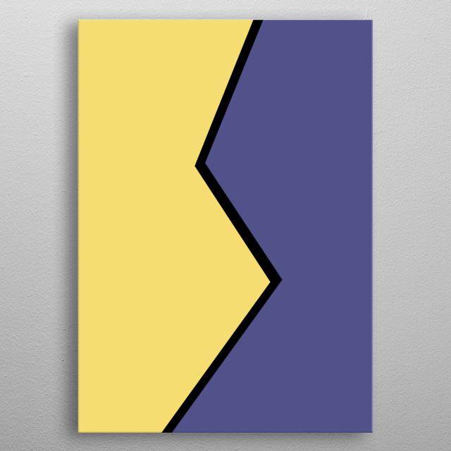 Colorful minimalistic art metal poster