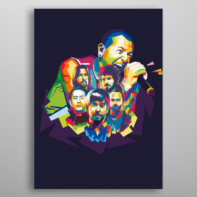 Linkin Park is an American rock band from Agoura Hills, California. metal poster