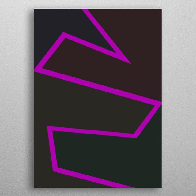 Dark minimalistic art metal poster