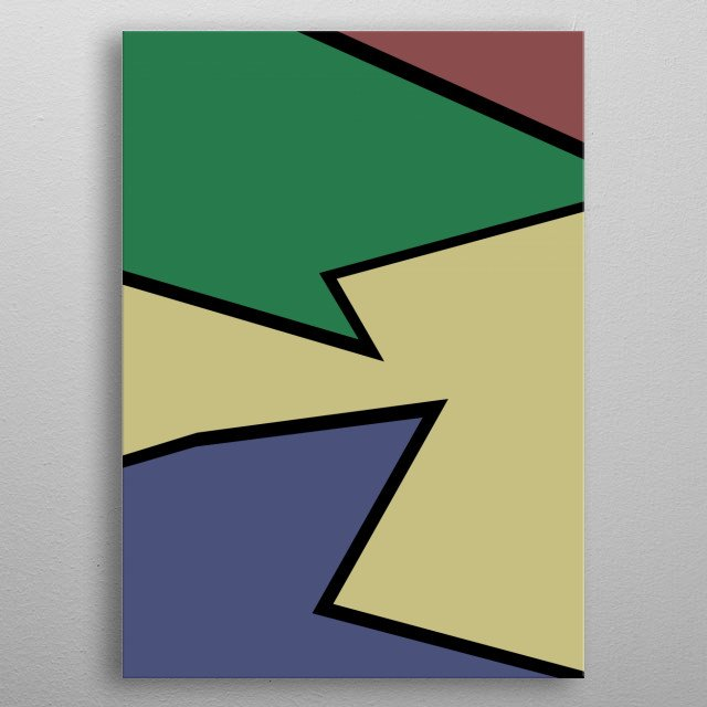 Abstract colorful artwork metal poster