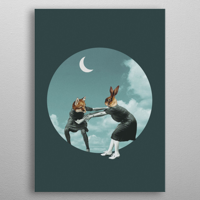 Do I chase the night or does the night chase me? metal poster
