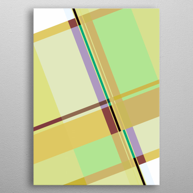 GEOMETRIC GRAPHIC DESIGN, INSPIRED OF SPRING & BAUHAUS. ©6-2019 by Pia Schneider | atelier COLOUR-VISION. metal poster