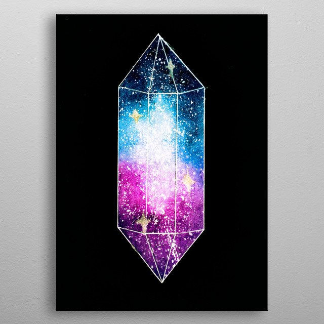 Galaxy inspired crystal metal poster