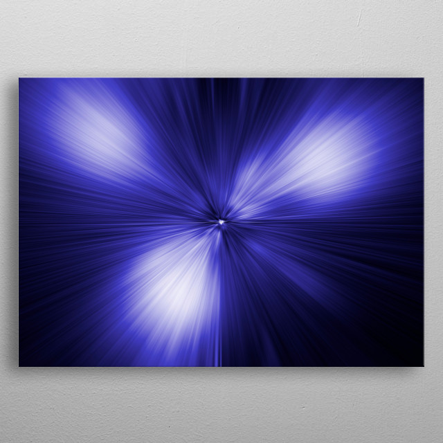 Abstract blue constellation metal poster