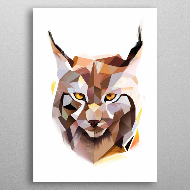 Lynx from Modern Animal collection. See more animals in my profile  metal poster