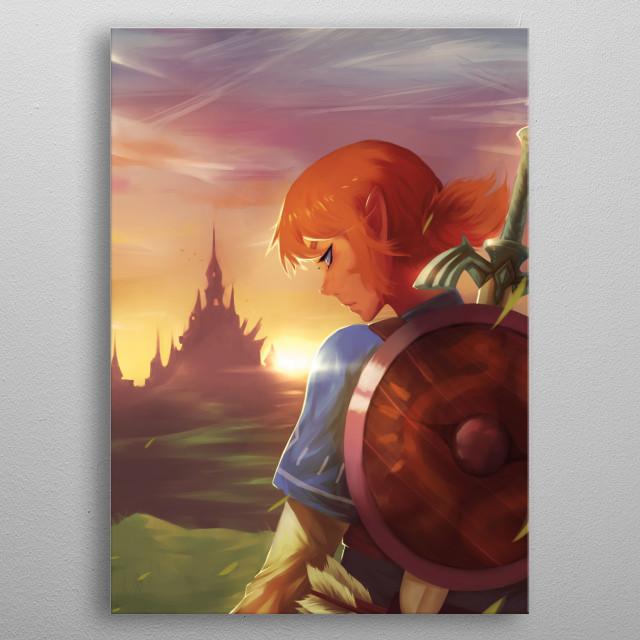 Link Vs Ganon Pop Art Poster Print Metal Posters Displate