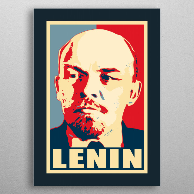 Inspired by historic vintage election propaganda posters used in communist Soviet Russia known as USSR and CCCP during the Cold war. metal poster