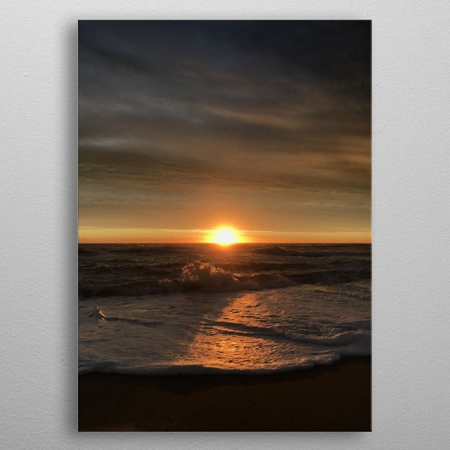 How beautiful nature is. The sky was stormy and yet the rest of the day was magnificent. The light of that sunrise was just perfect. metal poster