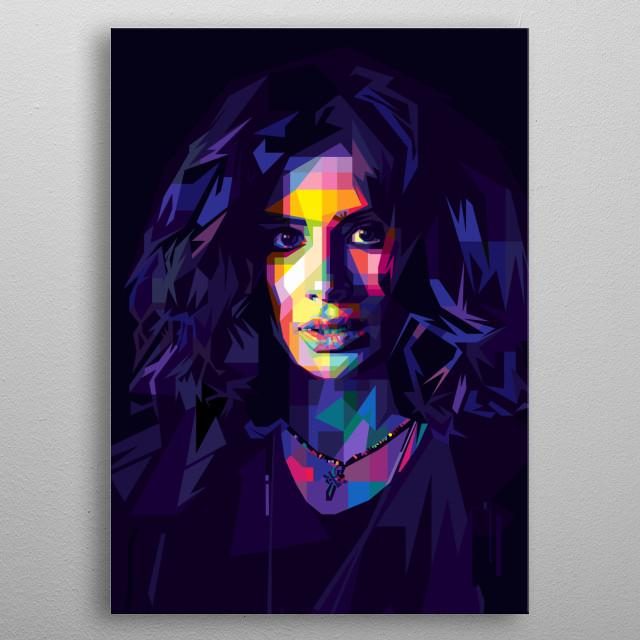 Pop Art in WPAP Style of Diane Guerrero (Crazy Jane) from TV Series, Doom Patrol. metal poster