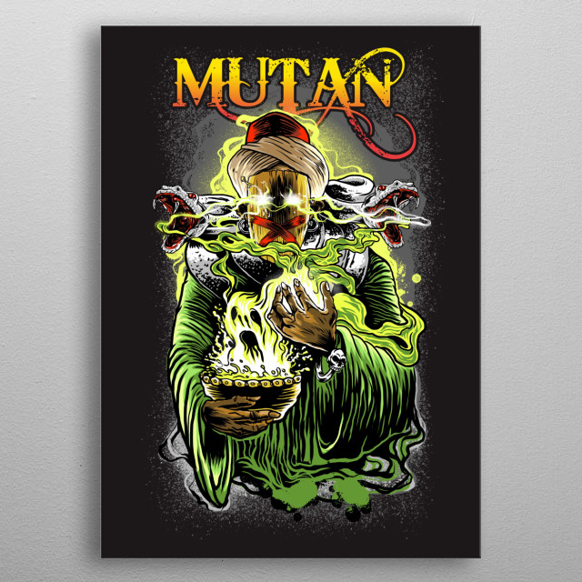 this illustration is themed about religious blasphemers who rely too much on their appearance and mouth for community provocations.  metal poster
