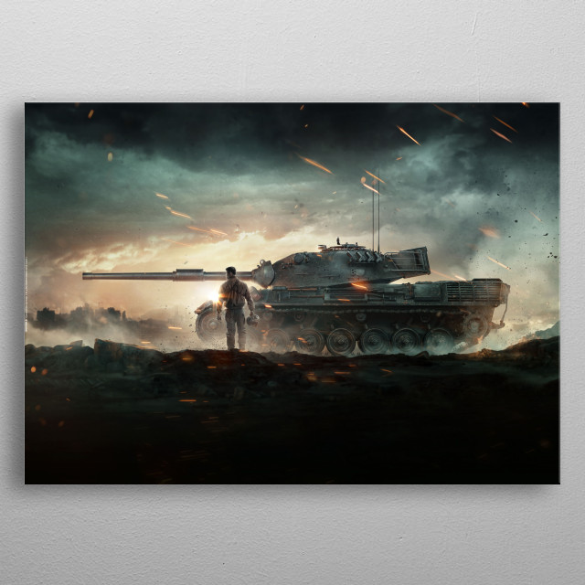 Fascinating  metal poster designed with love by worldoftanks. Decorate your space with this design & find daily inspiration in it. metal poster