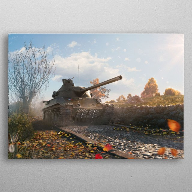 High-quality metal wall art meticulously designed by worldoftanks would bring extraordinary style to your room. Hang it & enjoy. metal poster