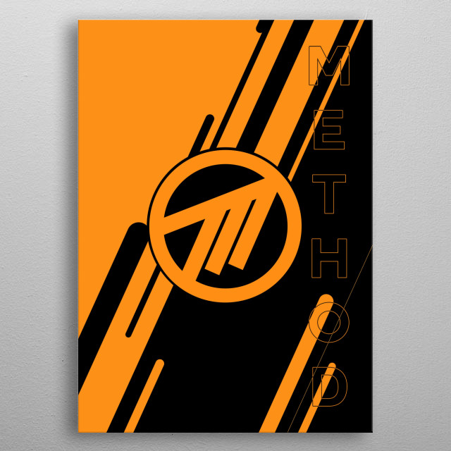 Method logo with text, simple yet powerful #methodway metal poster