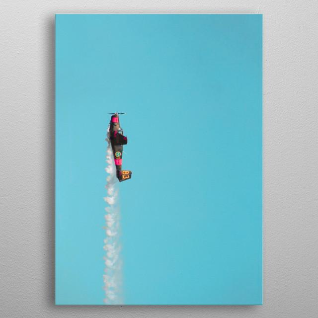 This is a SAAB Safir in mid air.. Taken in Örebro Sweden. metal poster