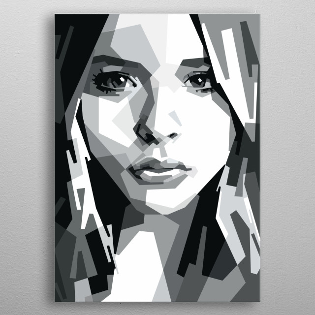 Potrtait of Chloe Moretz. metal poster