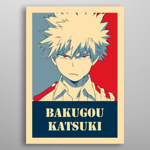 Poster Bakugou Katsuki Pop Art Poster Print Metal Posters