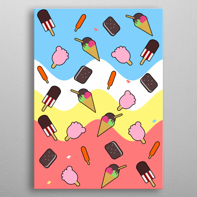 Who doesn't love ice cream, right? There are lot's of flavors and colors for every ice sweet lover out there. metal poster