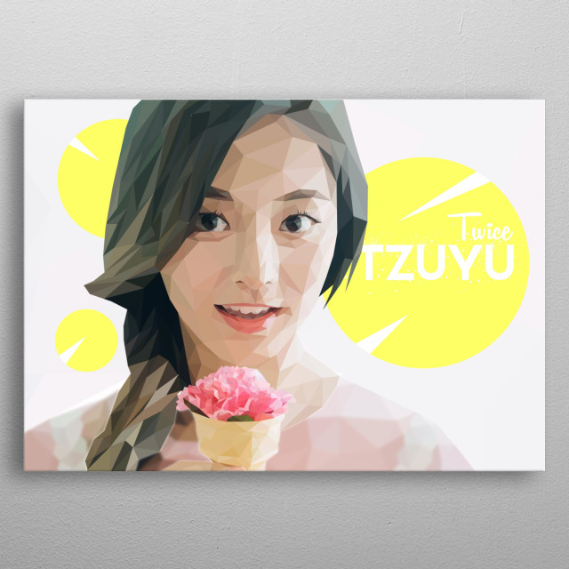 Tzuyu, is a Taiwanese singer. He is a member of the international K-pop music group, TWICE metal poster