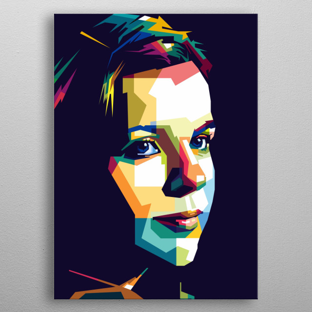 someone with a low key style, colorful pop art illustration metal poster