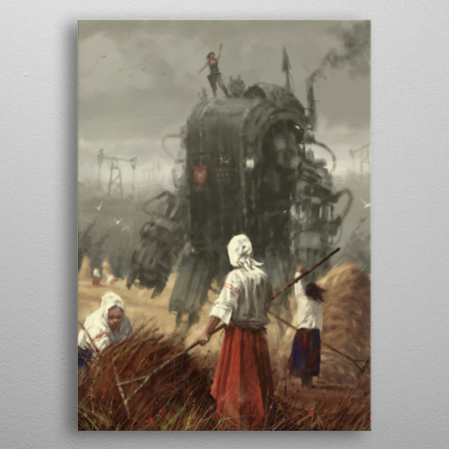 new painting and short story from my 1920+ world metal poster