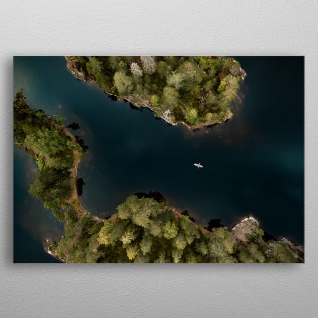 Kayak exploration, Norway metal poster