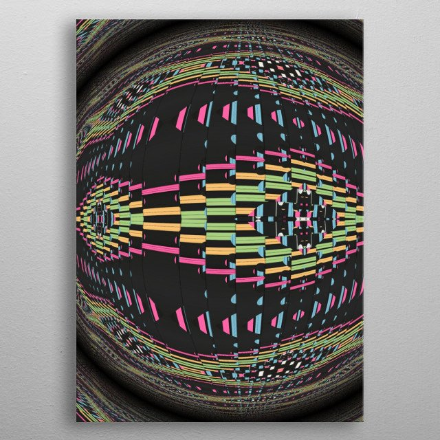 Type  : Digital Style : Abstract  Themes : Cosmos, Planet, space, surrealism, shapes Colours : black, colorful For : Livingroom, Office, bar metal poster