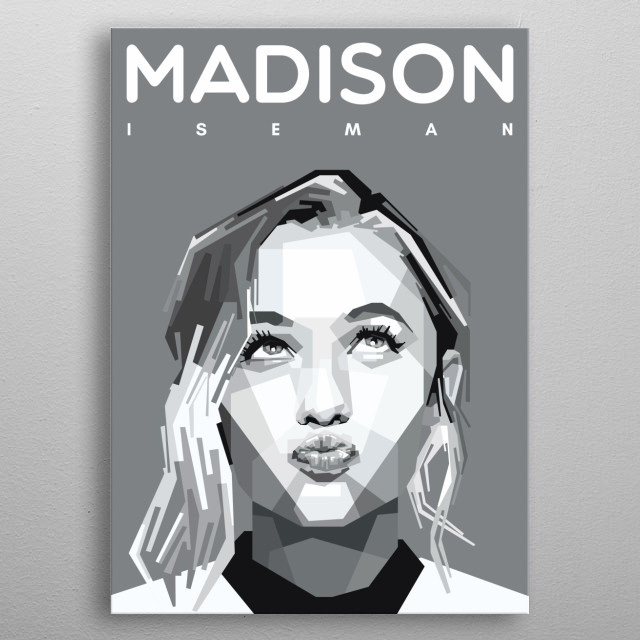 Portrait of Madison Iseman. metal poster