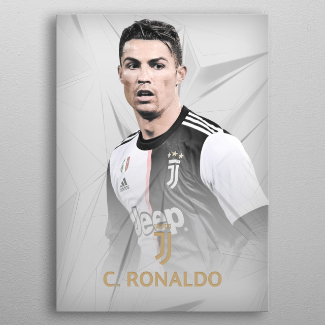 Cristiano Ronaldo drawn design. metal poster