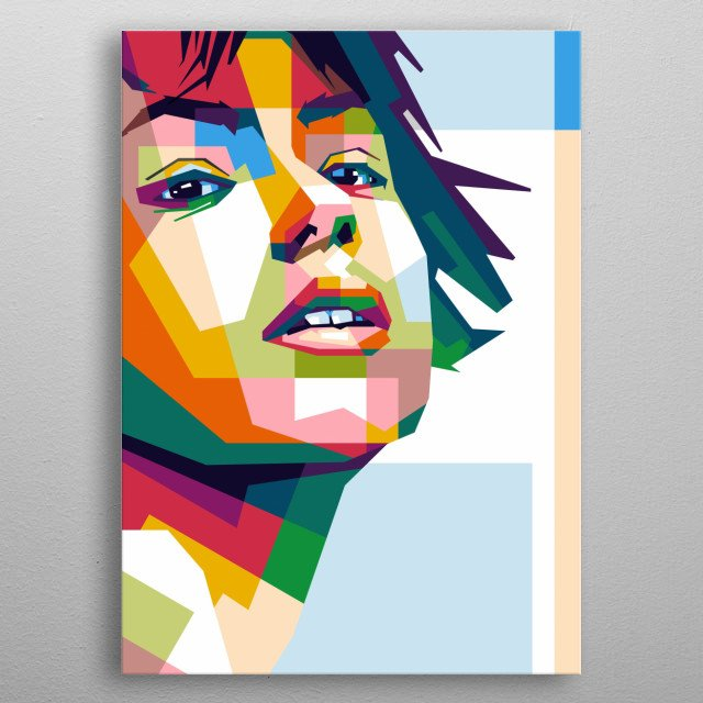 sexy pop art in wpap vector ilustration style metal poster