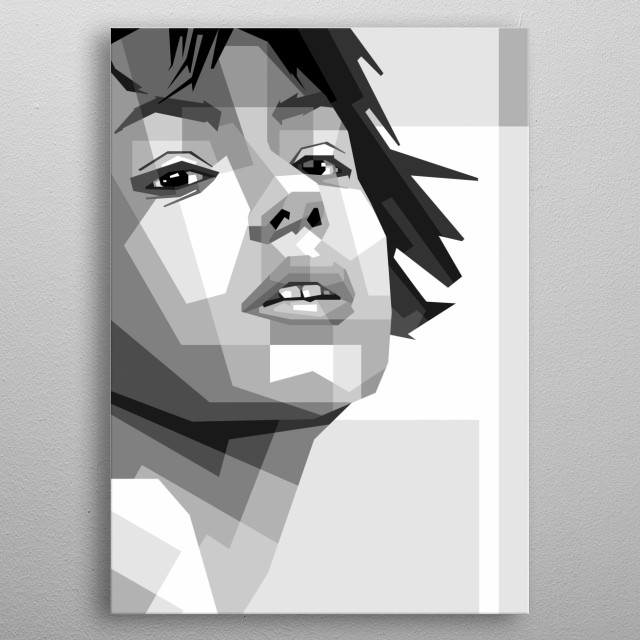 sexy woman, design vector ilustration pop art isolated white background metal poster
