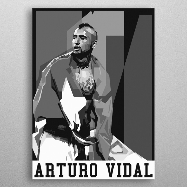 Arturo Vidal Pardois a Chilean professional footballer who plays as a midfielder for Spanish club Barcelona. metal poster