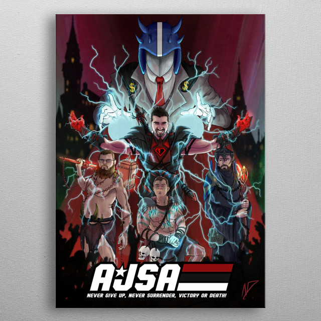 3rd Place Winner of the 1st AJSA Poster Contest! The entire crew of the AngryJoeShow! metal poster