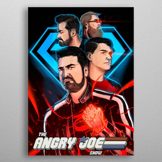2nd Place Winner of the 1st AJSA Poster Contest! The entire crew of the AngryJoeShow! metal poster