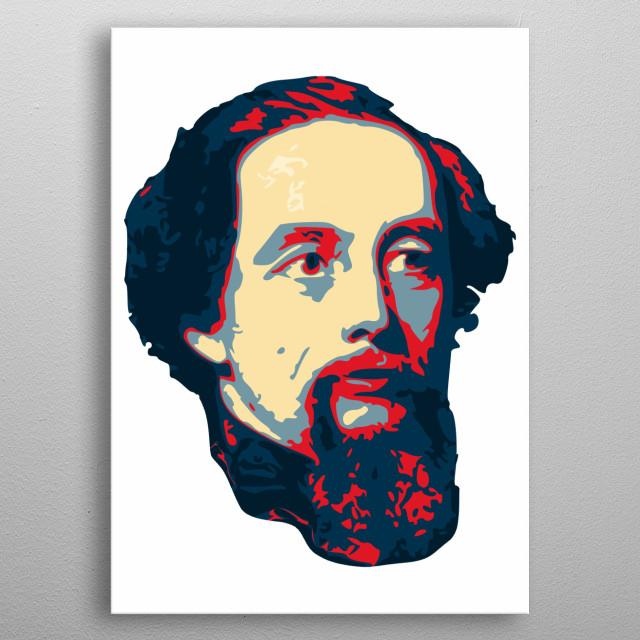 Charles Dickens Pop Art metal poster