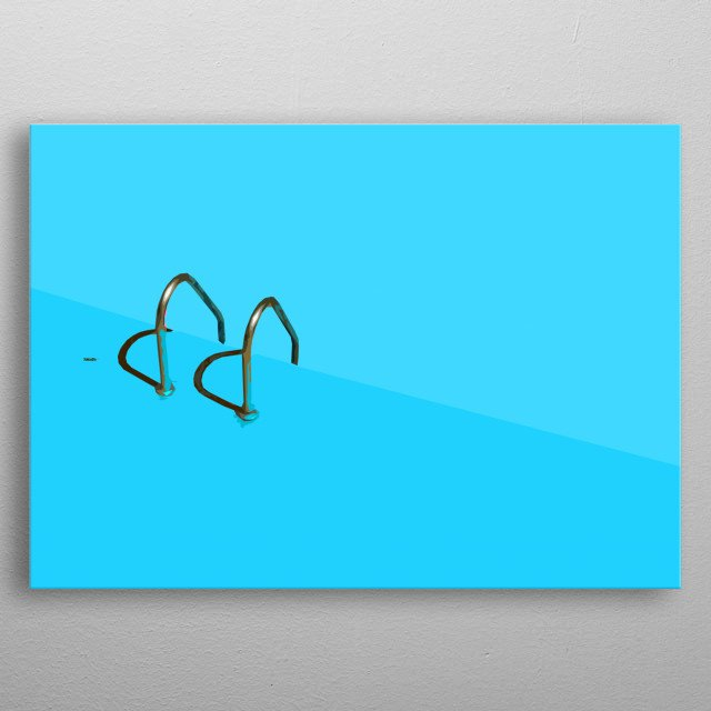 Swimming Pool Minimalistic Poster Print | metal posters ...