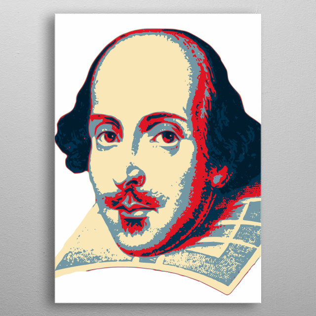 William Shakespere Pop Art metal poster