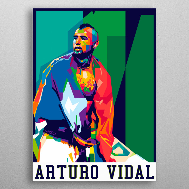 Arturo Vidal Pardo is a Chilean professional footballer who plays as a midfielder for Spanish club Barcelona. metal poster
