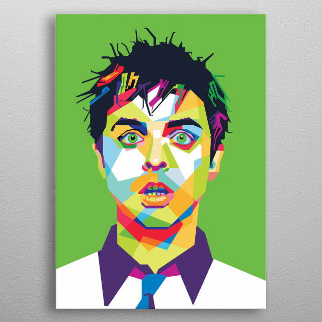Billie Joe Armstrong is a singer and guitarist from the music group Green Day metal poster